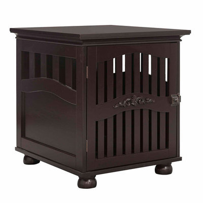 Elegant Home Fashions 19.5 in. W x 22.5 in. D x 22.5 in. H Small Espresso Tes Buddy Residence HDPC903