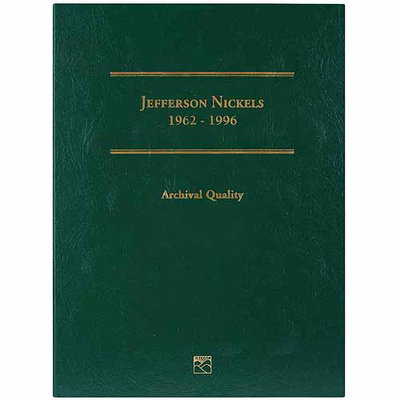 Wmu Jefferson Nickel Folder-1962-1996 Volume 2