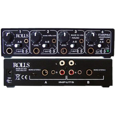 Rolls HA243 4 Channel Studiophile Headphone Amplifier