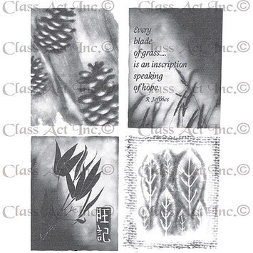 Class-act Chapel Road Cling Mounted Rubber Stamp Set 5.75