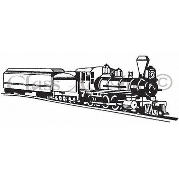 Class-act Class Act Cling Mounted Rubber Stamp 2.75inX3.75in-Long Train