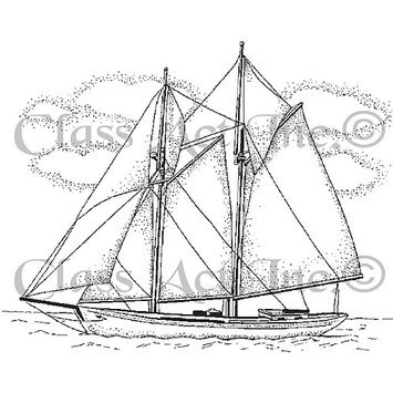 Class-act Class Act Cling Mounted Rubber Stamp 2.75inX3.75in-Small Ship