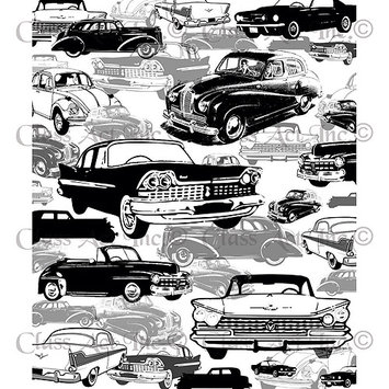 Class-act Chapel Road Background Cling Mounted Stamp 5.75inX7.75in-Oldies But Goodies Car Background