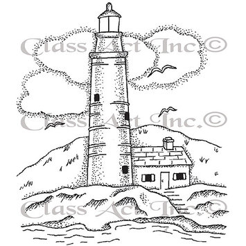 Class-act Class Act Cling Mounted Rubber Stamp 4.25inX5.75in-Large Lighthouse