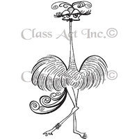 Class-act Class Act Cling Mounted Rubber Stamp 3.25