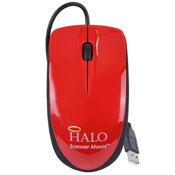 Halo Red 3-Button USB Laser Scroll Mouse w/ Photo/Document Scanner