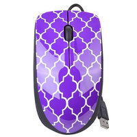 Halo Purple Lattice 3-Button USB Laser Scroll Mouse w/ Photo/Document Scanner