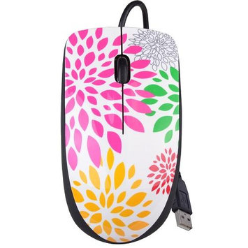 Halo Flower 3-Button USB Laser Scroll Mouse w/ Photo/Document Scanner