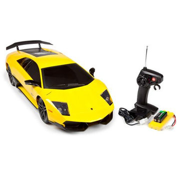1:10 Licensed Yellow Lamborghini Remote Control Xstreet Ready to Run 27 Mhz RC Car