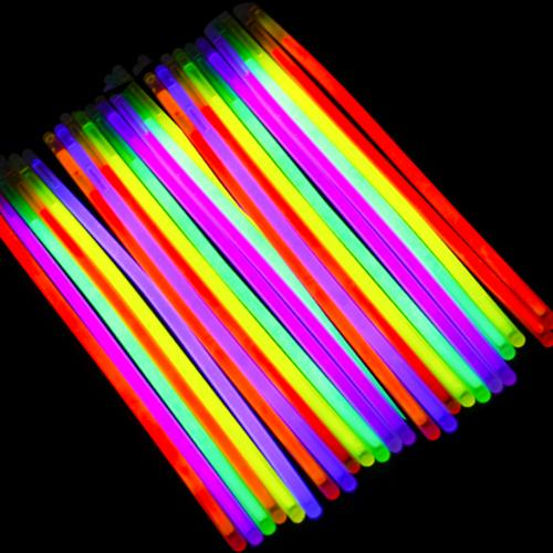 Etekcity 100 8 Party Supplies Light up Glow Sticks for Bracelets Necklaces Mixed Colors