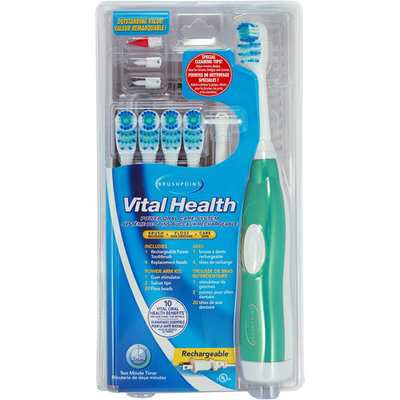 Brushpoint Vital Health Rechargeable Power Oral Care System