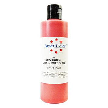 Americolor Amerimist Red Sheen Pearl 9 Ounce Airbrush Food Color