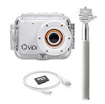 ViDi LCD Action Camera with Waterproof Case, Extension Pole and 4GB Memory Card