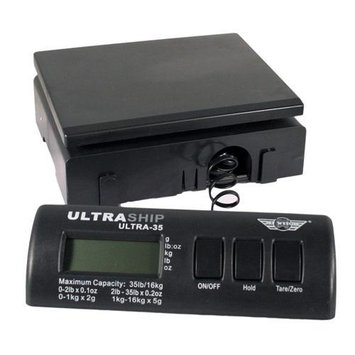 My Weigh Ultraship 35 LB Electronic Digital Shipping Scale Black with Ultraship Power Supply