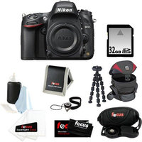 Nikon D610 FX-format Digital SLR Camera Body + 32GB SDHC Memory Card + Red and Black Holster Case + Accessory Kit
