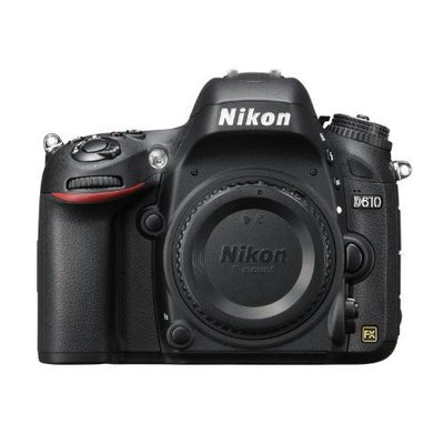 Nikon D610 FX-format Digital SLR Camera Body + 64GB SDHC Memory Card + Replacement Battery + Red and Black Holster Case + Accessory Kit