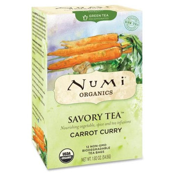 Numi Organic Tea Savory Tea Decaffeinated, Green Carrot Curry