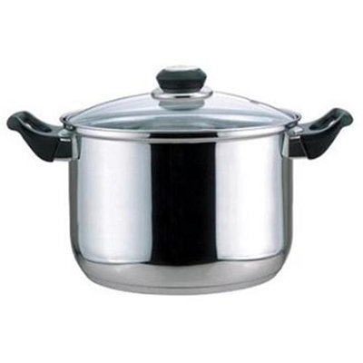 Fnt 01108 8-qt Stock Pot W/glass Cover