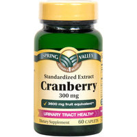 Spring Valley Cranberry Caplets, 3600mg, 60 count