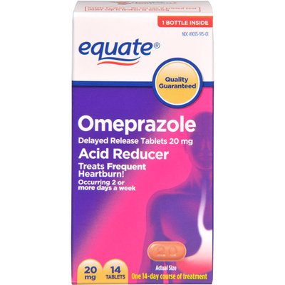 Equate Acid Reducer Omeprazole, 14ct