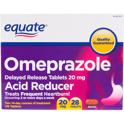 Equate Delayed Release Tablet 20Mg Acid Reducer Omeprazole