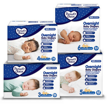 Parents Choice Parent's Choice Overnight Baby Diapers, (Choose Your Size)