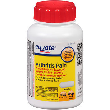 Equate Arthritis Pain Acetaminophen Pain Reliever/Fever Reducer Extended-Release Caplets, 650mg, 225 count
