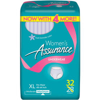 Assurance for Women Maximum Absorbency Protective Underwear, Extra Large, 32 count