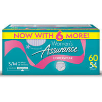 Assurance for Women Maximum Absorbency Protective Underwear, Small/Medium, 60 ct
