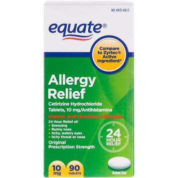 Equate Allergy 24 Hour Indoor & Outdoor Tablets 90 ct