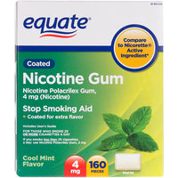 Equate Nicotine Gum 4 Mg Cool Mint Flavor Stop Smoking Aid - 160 Ct