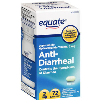 Equate Anti-Diarrheal Caplets 2mg, 72ct