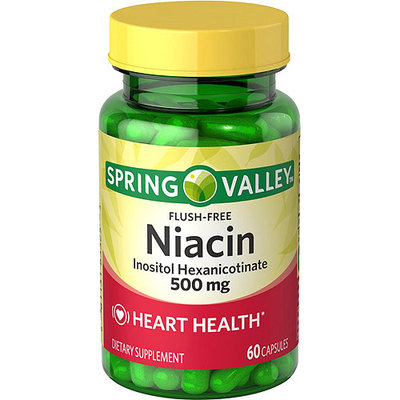 Spring Valley Flush Free Niacin Dietary Supplement Capsules