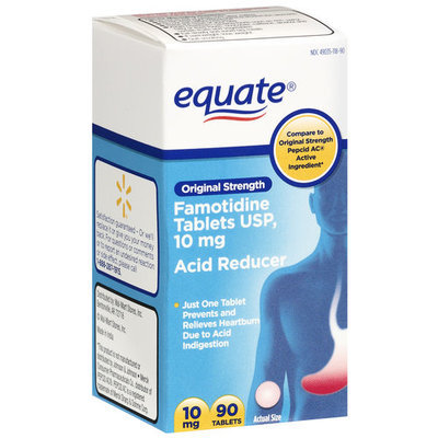 Equate: Original Strength/Famotidine Tablets 10Mg/Acid Reducer Acid Controller, 90 ea