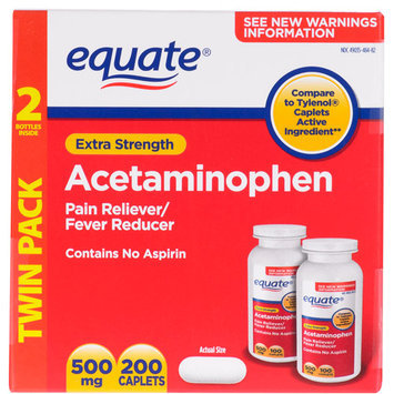 Equate Extra Strength Value Pack Acetaminophen, Non Aspirin