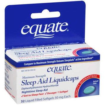 Equate Maximum Strength Sleep Aid, 32 Liquidcaps
