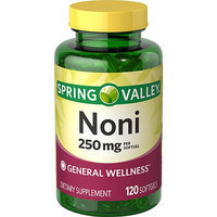 Spring Valley Natural Noni Dietary Supplement Softgels, 500mg per serving, 120 count