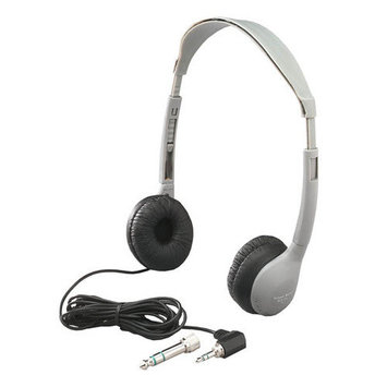 Hamilton Electronics Personal Stereo Mono Headphones Leatherette Ear Cush W/O Volume
