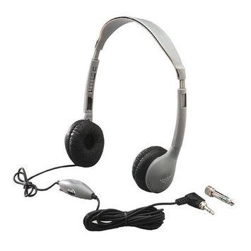 Hamilton Electronics Leatherette Ear Cushioned Personal Educational Headphone with Volume Control