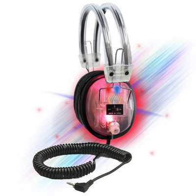 Buhl LED Light-Up Clear Housing Deluxe Headphone