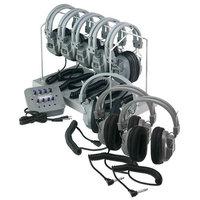 Hamilton Electronics HH JBP8SV HA5 Listening Center 8 Station Jackbox with Volume Deluxe Headphones ASM with Storage Rack