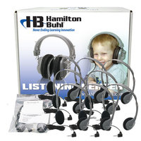 Hamilton Electronics LCB - 12 - HA2V Lab Pack- 12 HA2V Personal Headphones in a Laminated Carboard Carry Case