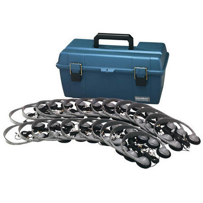 Hamilton Electronics LCP 30 HA2V Lab Pack 30 HA2V Personal Headphones in a Carry Case
