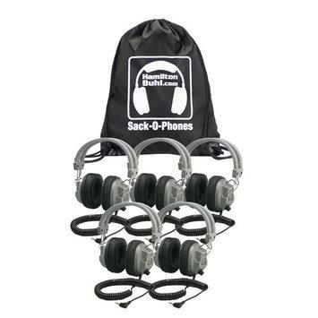 Hamilton Buhl Sack-O-Phones 5 Sc7V Deluxe Headphones With Volume Con.