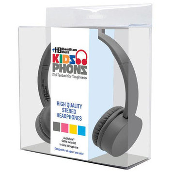 Hamilton Kidz Phonz Stereo Headphone with In-Line Microphone Color: Gray
