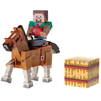 Jazwares Minecraft Steve with Chestnut Horse Action Figure 2-Pack