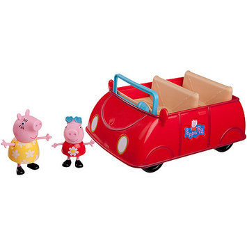 Jazwares, Inc Peppa Pig Red Car Playset with Exclusive Figures