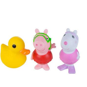 Jazwares, Inc Peppa Pig - Peppa, Suzy, Quack Bath Squirtee's 3 pack