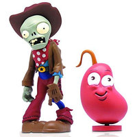 Jazwares Plants vs. Zombies 2 Cowboy Zombie Figure with Weapon