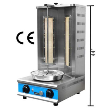 UniWorld Vertical Shawarma Natural Gas Broiler Dual Burner VBR-2SP